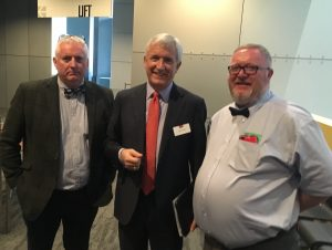 Ian Lightbody and David Taylor with David Duffy CEO of CYBG PLC pictured at the AGM