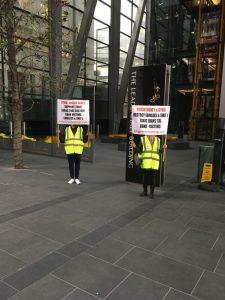 Yellow Vests Protect moves to CYBG Virgin Money Leadenhall London offices