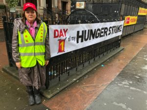 9 September Grandma Anne Peters Joins Hunger Strike at CYBG Virgin Money HQ